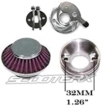 ScooterX Performance Filter, Velocity Stack, and Choke Lever for Scooters, Go Karts, Pocket Bikes