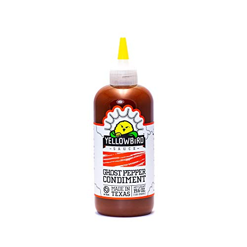 Ghost Pepper Hot Sauce by Yellowbird | Plant-Based, Gluten Free, Non-GMO | Homegrown in Austin | 19.6 oz
