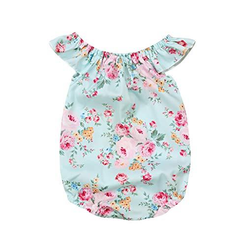 Sayla Infant Baby MäDchen Blumen Rüschen Quaste Strampler Badeanzug Bikini Set FüR Sleeveless Wort Schulter Fringe Ball Gedruckt Haber Maiden Dress Hair Strap