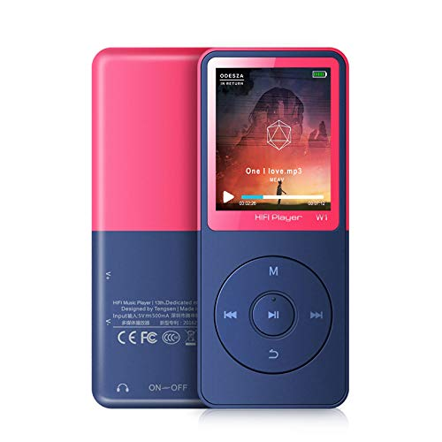 """MP3 Player with Bluetooth, MP3 Music Player with FM Radio, Recording, Photo View, 1.8"""" Screen, HiFi Lossless Sound, 30+ Hours Long time Play, Support up to 128GB"""