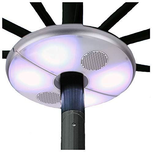 Patio LED Umbrella Luz con Altavoz Bluetooth