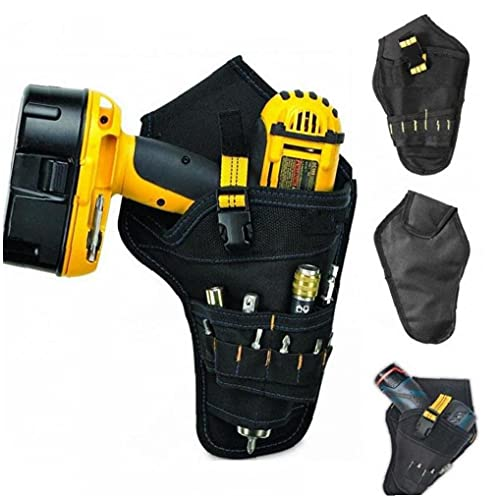Ruluti Portable Electrician Tool Waist Belt Pouch Bag Impact Driver Drill Holster Electric Cordless Drill Holder Waist Tool Bag