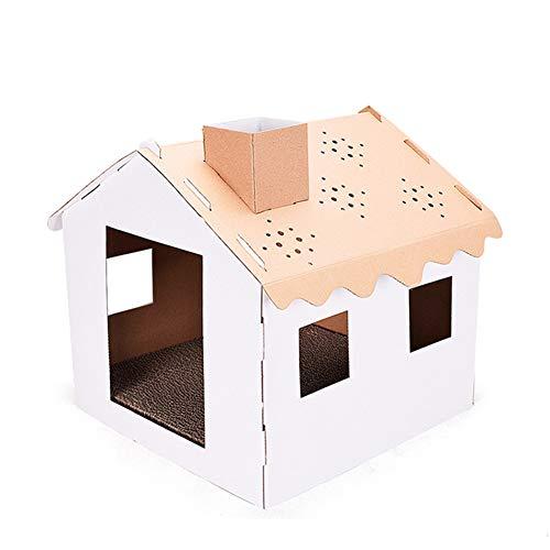 MeterMall Cómoda casa de Gato Plegable de Papel Corrugado casa Gato Gatito Bricolaje rascador Almohadilla Almohadilla Cuidado Habitacion Original