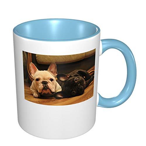 French Bulldog Funny Coffee Tea Mug Personalised Mug Novelty Gift For Christmas Sky Blue