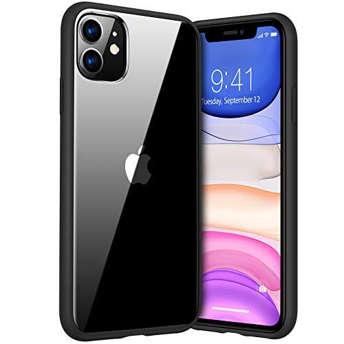 TORRAS Diamond Series Kompatibel mit iPhone 11 Hülle, Vergilbungsfrei Durchsichtig Handyhülle Hard PC Back & Soft Silikon Bumper Hülle - Schwarz