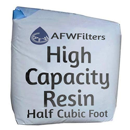 High Capacity Replacement Water Softener Resin 8% Crosslink 1/2 cubic foot
