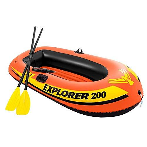 Barca hinchable Kayak Fischer bota de buceo con 2 remo y bomba manual