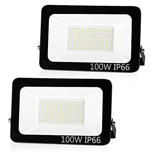 Aurorast 100W LED Outdoor Light,LED Floodlights IP66 Waterproof, 8000lm Bright in Security Light,...
