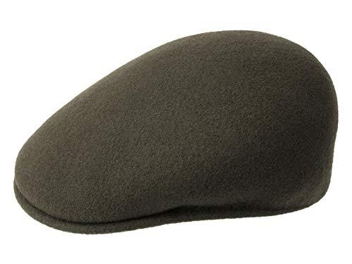 Kangol Wool 504 Original Flatcap aus Wolle - Oliv (LD304) - 60-61 cm (XL)