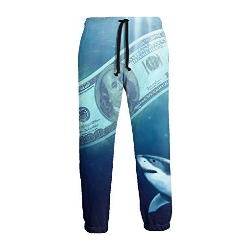 AEMAPE Sea Dollar and Shark Men 'S Jogginghose Jogginghose mit Taschen
