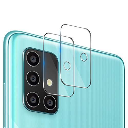 UniqueMe [2 Pack] Protector de Lente de cámara Compatible con Samsung Galaxy A71, Protector de Pantalla [9H Dureza ] [Sin Burbujas] Cristal HD Vidrio Templado