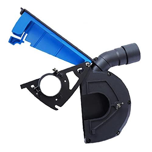 Sanfiyya Cubierta Protectora Amoladora Angular Polvo de amolado Cubierta a Prueba de Polvo de Piedra Accesorios Máquina para Recoger el Polvo Azul