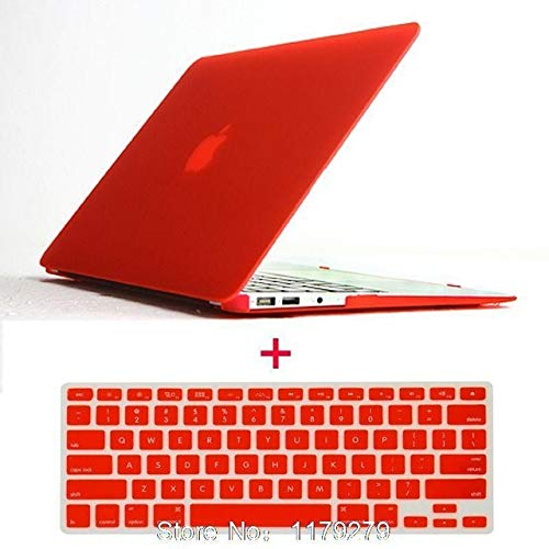 Laptop Matte Rubberized Hard Cover Case +Us Keyboard TPU for MacBook 11 12 13 15 for Mac Book Sleeve Notbook Hard Without Logo : Red, 15 Pro A1286