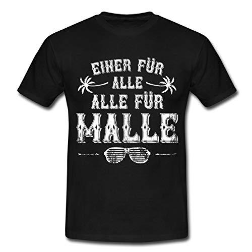 Einer Für Alle Alle Für Malle Mallorca Männer T-Shirt, 3XL, Schwarz