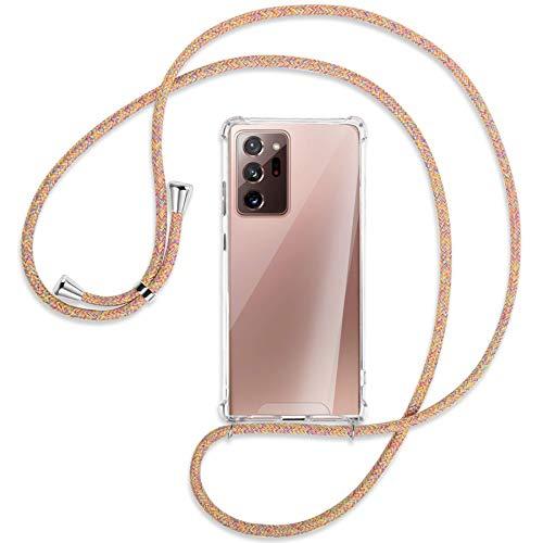 mtb more energy® Collar Smartphone para Samsung Galaxy Note 20 Ultra (SM-N985, 6.9'') - Rainbow - Adjunto Abajo - Funda Carcasa Anti Shock con Cuerda Correa