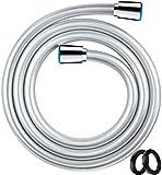 Blukar Flessibile Doccia, 1.6M PVC Tubo Doccia con Interfaccia Universale Standard (G1 / 2) e Anti-Torsione Connettore in Ottone, Adatto per la Maggior Parte degli Apparecchi per Doccia