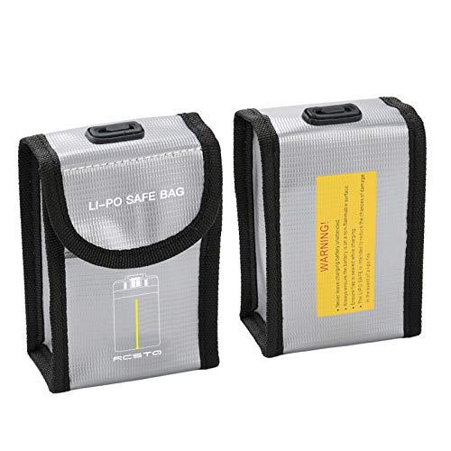 DJFEI Mavic Mini 2 Borsa per Batteria LiPo, Prova di Esplosione a Prova di Fuoco Lipo Safe Bag per DJI Mavic Mini 2 Parti di Ricambio Lipo Guardia Batteria (A)