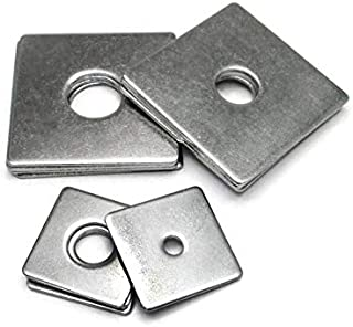 WSHR-37718 10PCS M3 M4 M5 M6 M8 304 Stainless Steel Square Gasket Square Flat Pad Washer Square Wall Mat Inner Dia: M4X20X1mm