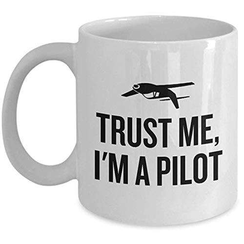 Rael Esthe Taza Divertida de piloto - Idea de Regalo de piloto - Regalo de Aviador - Confía en mí, Soy un piloto