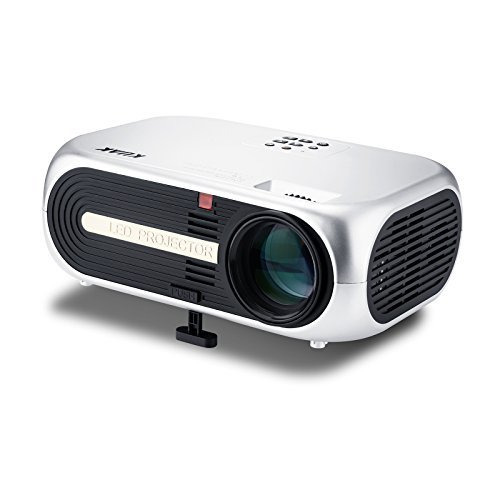 """Projector, KUAK HT60 Home Theater Projector, 5"""" LCD Technology, 4500 Lumens HD Movie Projector, LED Video Projector with 200"""" Display, Support 1080P HDMI USB VGA AV"""
