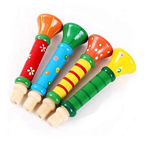 JUNGEN Sifflet Jeu D'imitation pour let Enfant Musique en Bois Multicolors Idéal pour Cadeau de Pochette Surprise