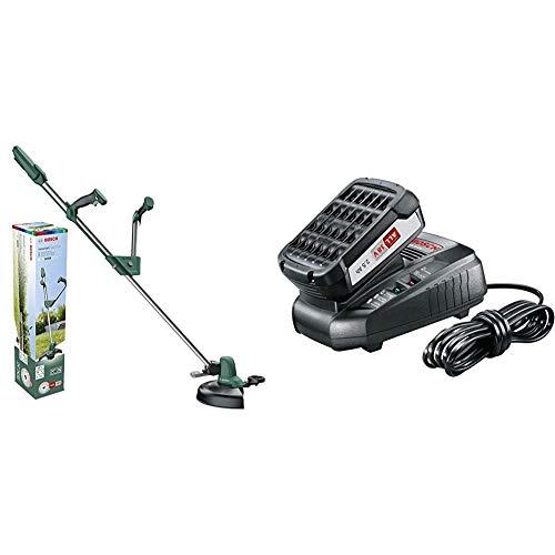 Bosch Home and Garden 06008C1D01 0 600 8C1 D01 Bosch Rasentrimmer UniversalGrassCut 18 (ohne Akku, 18 Volt System, im Karton), 18 V, Grün & Starter-Set (2,5 Ah Akku, 18 Volt System, Ladegerät)