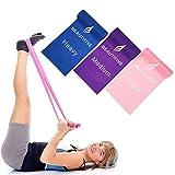Beautifive Gomas Elasticas Fitness, Juego de 3 Mini Bandas Elasticas de Resistencia, Cintas Elasticas Musculacion para Fisioterapia, Rehabilitación, Yoga, Pilates y Entrenamiento de Fuerza