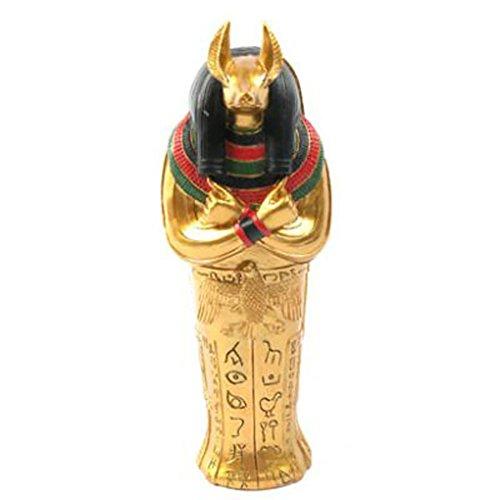 lotusandlime Puckator ES23 Figurine Sarcophage Anubis et Momie Or/Noir