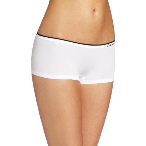 Calvin Klein Women's Seamless Hipster Panty, White, Large