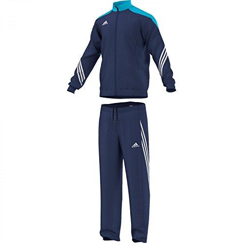 adidas Herren Trainingsanzug Sere14 Präsentations, dunkel blau/super cyan s12/weiß, S, F49713