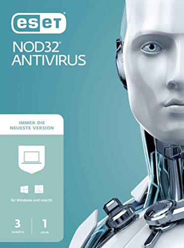 ESET NOD32 Anivirus 2021 | 3 Geräte | 1 Jahr | Windows (10, 8, 7 und Vista), macOS und Linux| Download