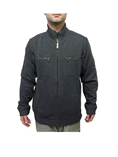 Calvin Klein Men's Lifestyle Full Zip Sweatshirt Jacket Grey Heather (M)