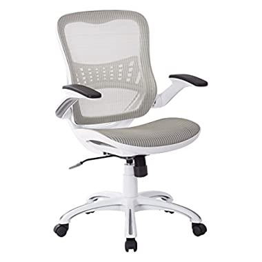 Work Smart/Ave Six Riley Office Chair, White Mesh