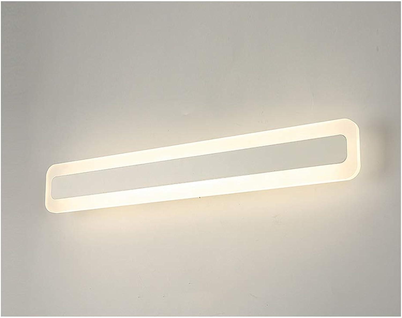 YU-H Lighting Spiegelfrontlicht, bad einfache moderne led dressing make-up lampe wasserdicht anti-fog badezimmer lampe badezimmerspiegel lampe (Farbe   Warmes Licht-40cm)