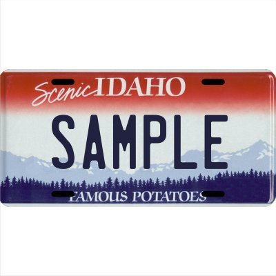 "Custom Personalized Metal License Plate Your Name Your State - Choose from All 50 States (Idaho, 6"" x 12"" Standard Thickness (.030""))"