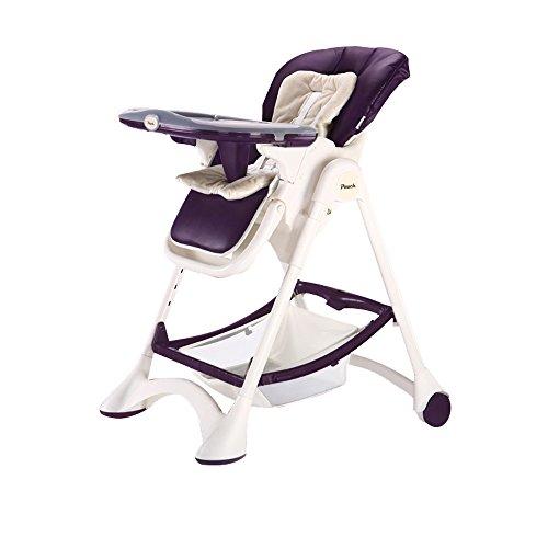WJS Bébé Chaise À Manger Enfant Repas Siège Bébé Pliant Portable Table et Chaise Multifonction Assis Tabouret (Couleur : Purple)