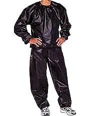 Hosuho Fitness svett bastudräkt, viktminskning helkropp svett bastu kostym träning gym anti-ripp PVC för män kvinnor