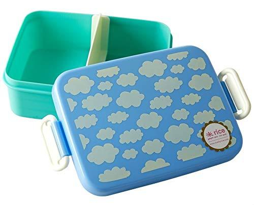 RICE Lunchbox mit Trenner blau Wolken