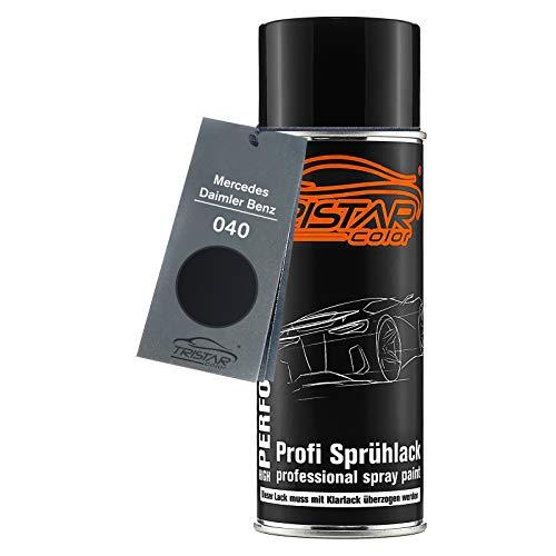 TRISTARcolor Autolack Spraydose für Mercedes/Daimler Benz 040 Tiefschwarz/Deep Black Basislack Sprühdose 400ml