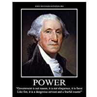 ZNNHEROジョージワシントン大統領の肖像画ポスターとプリントキャンバス絵画リビングルームの装飾のための壁の芸術-70X100Cmx1フレームなし