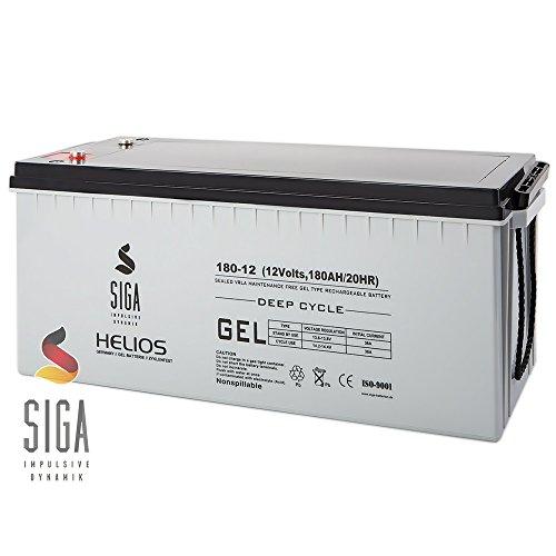 SIGA Akku 180Ah 12V Blei Gel Batterie Gelakku Solarakku Solarbatterie Boot Wohnmobil