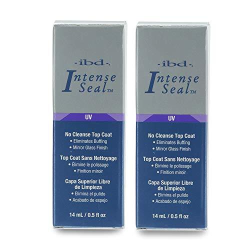 IBD Intense Seal, No-cleanse UV Top Coat 0.5 oz, 2 Pack