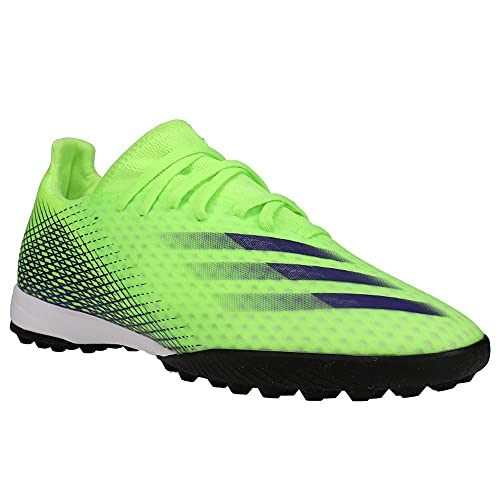 adidas mens X Ghosted 3 Turf,Signal Green/Energy Ink,11.5 M US