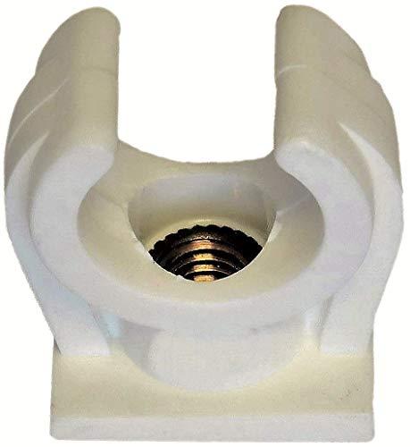 10 Stück Rohrclipse Rohrclips Rohrschelle einfach (20-22 mm)