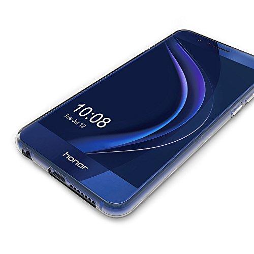 AICEK Huawei Honor 8 Hülle, Transparent Silikon Schutzhülle für Honor 8 Case Crystal Clear Durchsichtige TPU Bumper Huawei Honor 8 Handyhülle - 5