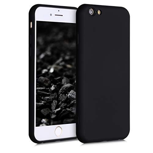 kwmobile Cover Compatibile con Apple iPhone 6 / 6S - Custodia in Silicone Effetto Gommato - Back Case Protezione Cellulare - Nero Matt