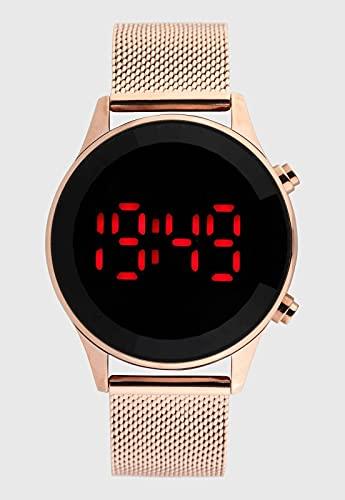 Relógio Lince Feminino Ref: Ldr4647l Pxrx Digital LED Rosé