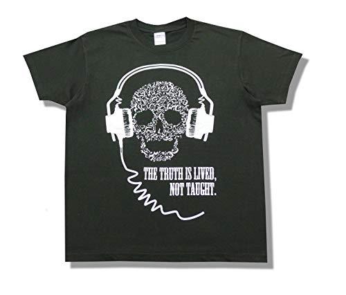 ヘッドホンドクロ オモシロ Tシャツ (黒, XL)
