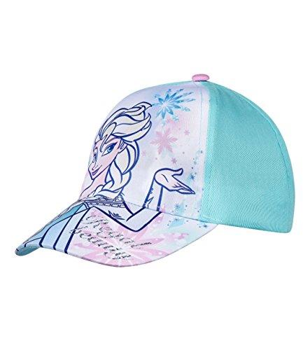 Disney Die Eiskönigin Elsa & Anna Mädchen Cap - hellblau - 52
