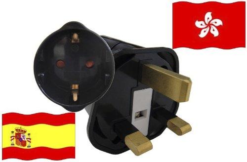 Urlaubs Reiseadapter Hong Kong für Geräte aus Spanien Kindersicherung und Schutzkontakt 250V